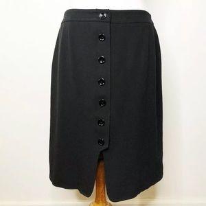 Talbots Button Front Skirt Sz. 12 Petite